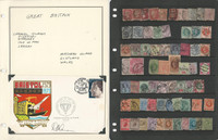 Great Britain Stamp Collection on 16 Pages, Loaded with Nice Stamps, JFZ