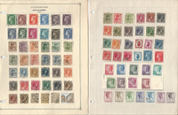 Luxembourg Stamp Collection on 4 Pages, Nice Selection of Stamps, JFZ