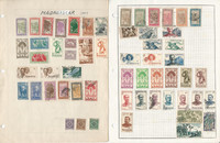Malagasy Madagascar Stamp Collection on 5 Pages, Nice Selection, JFZ