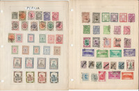 Middle East Stamp Collection on 5 Pages, Nice Selection of Stamps, JFZ