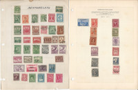 Newfounland Stamp Collection on 2 Pages, Nice Selection, JFZ