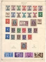 Oman Muscat Stamp Collection on 1 Page, British Colony, JFZ