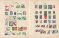 Peru Stamp Collection on 8 Pages, Nice Selection, JFZ