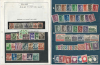 Poland Stamp Collection on 45 Pages, With WWII German Occupation, JFZ