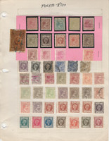 Puerto Rico Stamp Collection on 1 Page, Nice Selection, JFZ