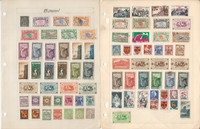 Reunion & Rhodesia Stamp Collection on 4 Pages, British & French, JFZ