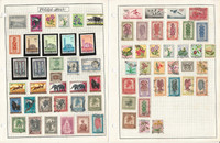 Ruanda Urundi Stamp Collection on 2 Pages, Belgian Colony, JFZ