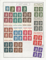 Russia Stamp Collection German Occupation World War II Mint Blocks 2 Pgs, JFZ