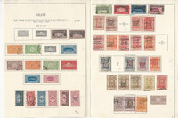 Saudi Arabia Stamp Collection on 3 Pages, 1916-32 Nice Classics, JFZ