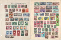 South Africa Stamp Collection on 12 Pages, Nice Selection, JFZ
