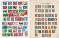 Switzerland Stamp Collection on 8 Harris Pages, Many Nice Stamps, JFZ