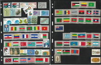 United Nations Stamp Collection on 10 Pages, Mint Lot of Stamps, JFZ