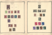 Belgium Stamp Collection on 37 Scott Specialty Pages, 1930-1974, JFZ