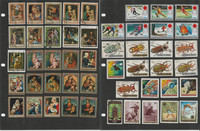 Burundi Stamp Collection on 20 Pages, Space, Religion, Fish, Butterfly, JFZ