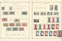 Cameroun Stamp Collection on 19 Scott International Pages, 1900-1973, JFZ