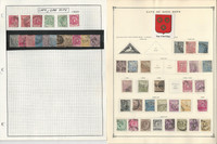 Cape Good Hope Stamp Collection on 2 Pages, 1864-1904, British Colony, JFZ