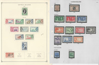 Cayman Islands Stamp Collection on 17 Pages, 1908-1972, JFZ