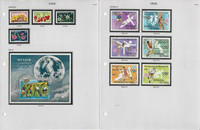 Chad Stamp Collection on 8 Pages, Topicals, Sports, Soccer, JFZ