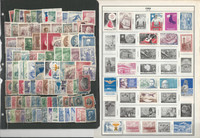 Chile Stamp Collection on 11 Harris Pages, Nice Selection, JFZ
