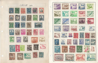 Chile Stamp Collection on 14 Pages, Many Nice Stamps, JFZ