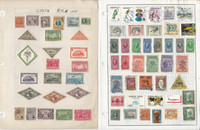 Costa Rica Stamp Collection on 22 Pages, Many Nice Stamps, JFZ