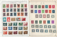 Croatia Stamp Collection on 4 Pages, 1944-44 World War II Issues, JFZ