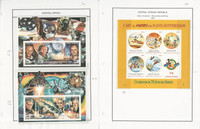 Central Africa Stamp Collection on 10 Steiner Pages, 1994-2001 Disney, JFZ