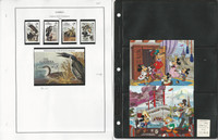 Gambia Stamp Collection on 10 Steiner Pages, 1985-1991 Disney, JFZ