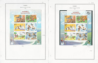 Gambia Stamp Collection on 18 Steiner Pages, 1997-1999 Disney, JFZ