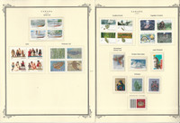 Canada Stamp Collection on 24 Scott Specialty Pages, 1990-94 Mint Sets, JFZ