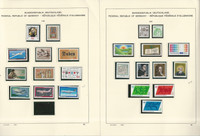 Germany Stamp Collection on 18 Schaubek Pages, 1980-83 Mint NH, JFZ
