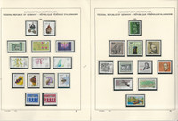 Germany Stamp Collection on 13 Schaubek Pages, 1984-86 Mint NH, JFZ