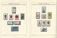 Germany Stamp Collection on 16 Schaubek Pages, 1977-1979 Mint NH, JFZ