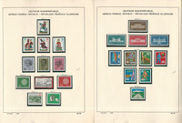 Germany Stamp Collection on 28 Schaubek Pages, 1970-1974 Mint NH, JFZ