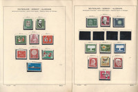 Germany Stamp Collection on 16 Schaubek Pages, 1957-1963 Mint NH, JFZ