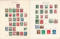Germany Stamp Collection on 40 Pages, Much World War II Era, JFZ