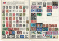 Great Britain Stamp Collection on 16 Pages, 1850-1980, JFZ