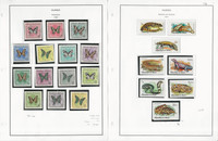 Guinea Stamp Collection on 6 Pages, Butterfly, Reptiles, Birds, Pope, JFZ