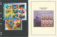 Guinea Stamp Collection on 12 Pages, Mint NH Topicals, Pope, Super Hero, JFZ