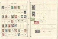 Indo-China Stamp Collection on 6 Scott International Pages, 1892-1939, JFZ