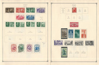 Italy Stamp Collection on 14 Scott International Pages, 1941-1949 WWII, JFZ