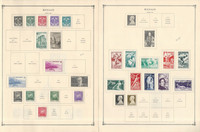 Monaco Stamp Collection on 8 Scott International Pages, 1940-1949, JFZ