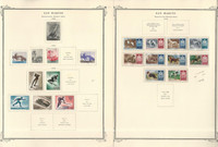 San Marino Stamp Collection on 35 Scott Specialty Pages, 1903-1959, JFZ