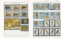 St. Thomas & Prince Islands Stamp Collection on 4 Pages, Birds, Trains+, JFZ