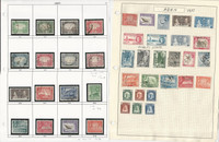 Aden Stamp Collection on 20 Pages, 1937-1955, JFZ
