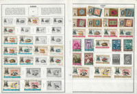 Ajman Stamp Collection on 12 Harris Pages, Topicals, JFZ