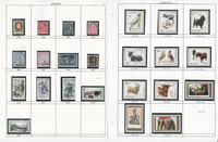 Albania Stamp Collection on 30 Scott & Harris Pages, JFZ