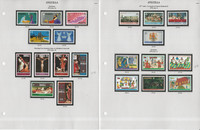 Anguilla Stamp Collection on 10 Scott & Harris Pages, British Colony, JFZ