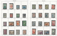 Argentina Stamp Collection on 16 Quad & Harris Pages, JFZ