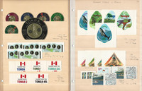 Tonga Stamp Collection on 45 Scott International Pages, 1886-1992, JFZ